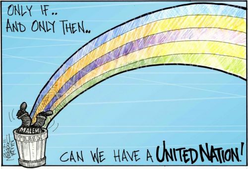 'The trash at the beginning of the rainbow': Africartoons.com