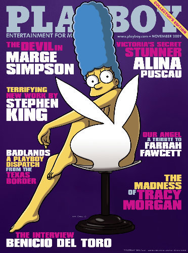 Marge Simpson on the cover of Playboy