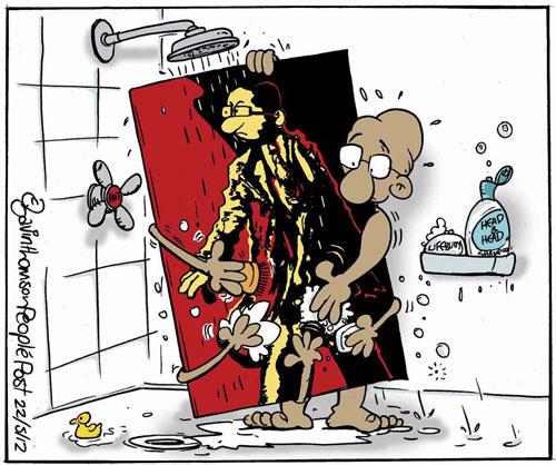 Cartoon by GAVIN THOMSON