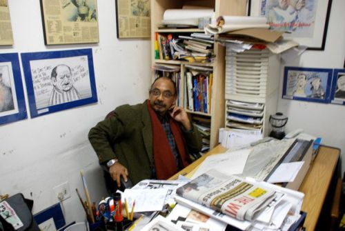 Nanda Soobben at his Studio at CFAD