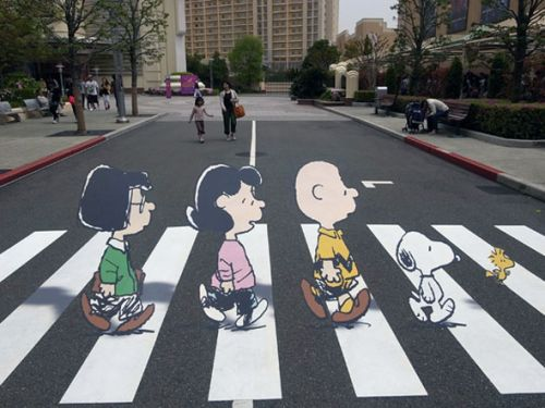 Peanuts Does Abbey Road
