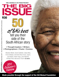 Big Issue December 2011 Cover