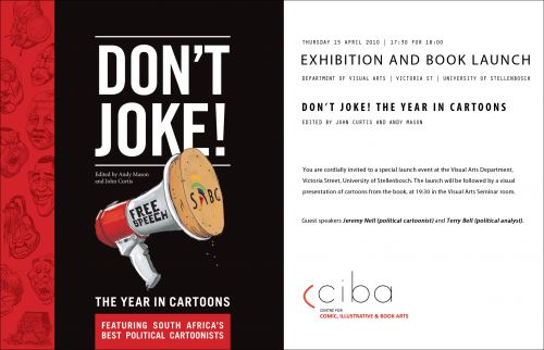 Don't Joke! Stellenbosch Launch invite, April 15 2010