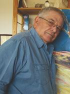 Dov Fedler in his studio