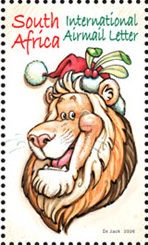 Dr Jack's Lion stamp