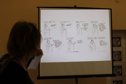 Stacey Stent presents some cartoons that inspire her