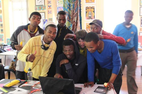 Participants at the CCIBA Editorial Cartooning Master Class