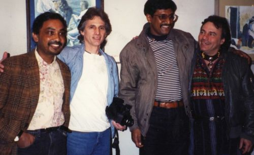 A Young Nanda (Left) at his Solo Exhibition in New York